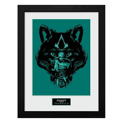Assassins Creed Valhalla Collector Print Framed Poster Wolf
