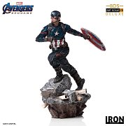 Avengers: Endgame Deluxe BDS Art Scale Statue 1/10 Captain America 21 cm --- DAMAGED PACKAGING