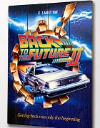 Back to the Future 2 WoodArts 3D Wooden Wall Art It\'s about time 30 x 40 cm