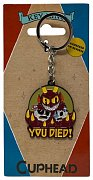 Cuphead Metal Keychain You Died! Limited Edition 4 cm