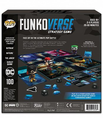 DC Comics Funkoverse Board Game 4 Character Base Set *French Version* --- DAMAGED PACKAGING
