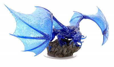 D&D Icons of the Realms Premium Miniature pre-painted Sapphire Dragon --- DAMAGED PACKAGING