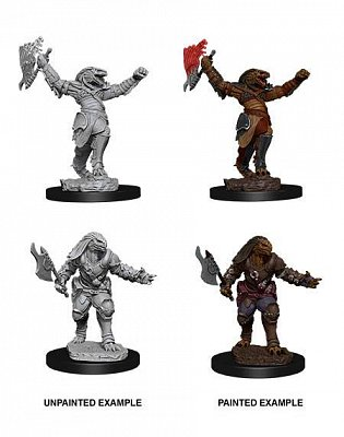 D&D Nolzur\'s Marvelous Miniatures Unpainted Miniatures Female Dragonborn Fighter Case (6)