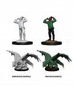 D&D Nolzur\'s Marvelous Miniatures Unpainted Miniatures Green Wormling & Afflicted Elf Case (6)