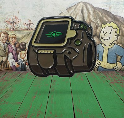 Fallout Pin Badge Vault-Tec Glow In The Dark Logo Limited Edition