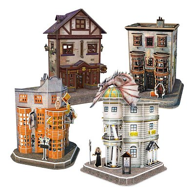 Harry Potter 3D Puzzle Diagon Alley Set (273 pieces) --- DAMAGED PACKAGING