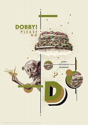 Harry Potter Art Print Dobby 42 x 30 cm