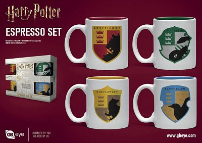 Harry Potter Espresso Mugs 4-Pack House Pride