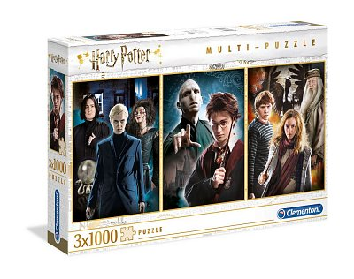 Harry Potter Multi Jigsaw Puzzle Characters (3 x 1000 pieces)