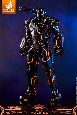 Iron Man 2 Movie Masterpiece Series Diecast Action Figure 1/6 Neon Tech War Machine Hot Toys Excl.