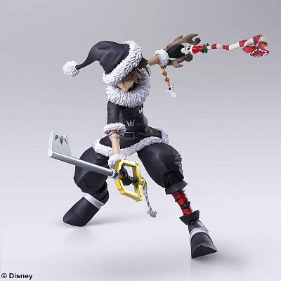 Kingdom Hearts II Bring Arts Action Figure Sora Christmas Town Ver. 15 cm --- DAMAGED PACKAGING