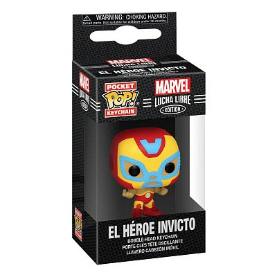 Marvel Luchadores Pocket POP! Vinyl Keychains 4 cm Iron Man Display (12)