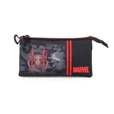 Marvel Pencil Case Spider-Man Dark Triple
