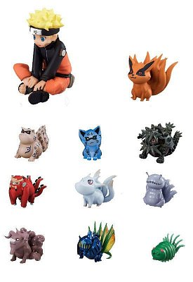 Naruto Mini Figures 11-Pack Naruto & Bijyu 3 - 7 cm  --- DAMAGED PACKAGING