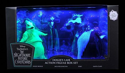 Nightmare before Christmas Action Figure Box Set Oogie\'s Lair SDCC 2020 Exclusive --- DAMAGED PACKAGING