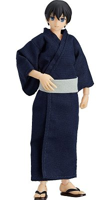 Original Character Figma Action Figure Male Body Ryo with Yukata Outfit 14 cm
