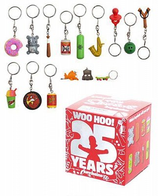 Simpsons Vinyl Keychains 4 cm Assortment 25th Anniversary (100) --- DAMAGED PACKAGING