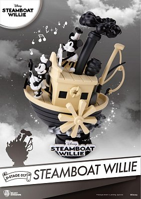 Steamboat Willie D-Stage PVC Diorama Mickey & Minnie 15 cm --- DAMAGED PACKAGING