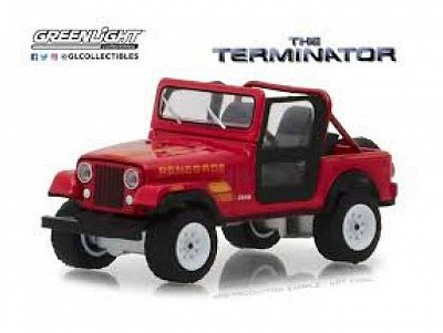 Terminator Diecast Model 1/18 1983 Jeep CJ-7 Renegade with Figure --- DAMAGED PACKAGING