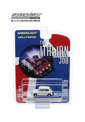 The Italian Job Diecast Model 1/64 1967 Austin Mini Cooper S 1275 MkI white